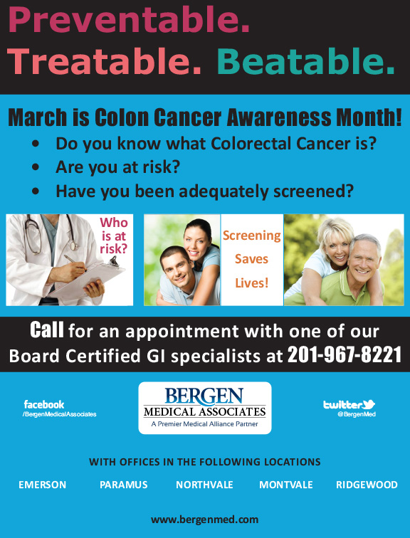 March Is Colorectal Cancer Awareness Month Be Informed Bergen Medical Associates